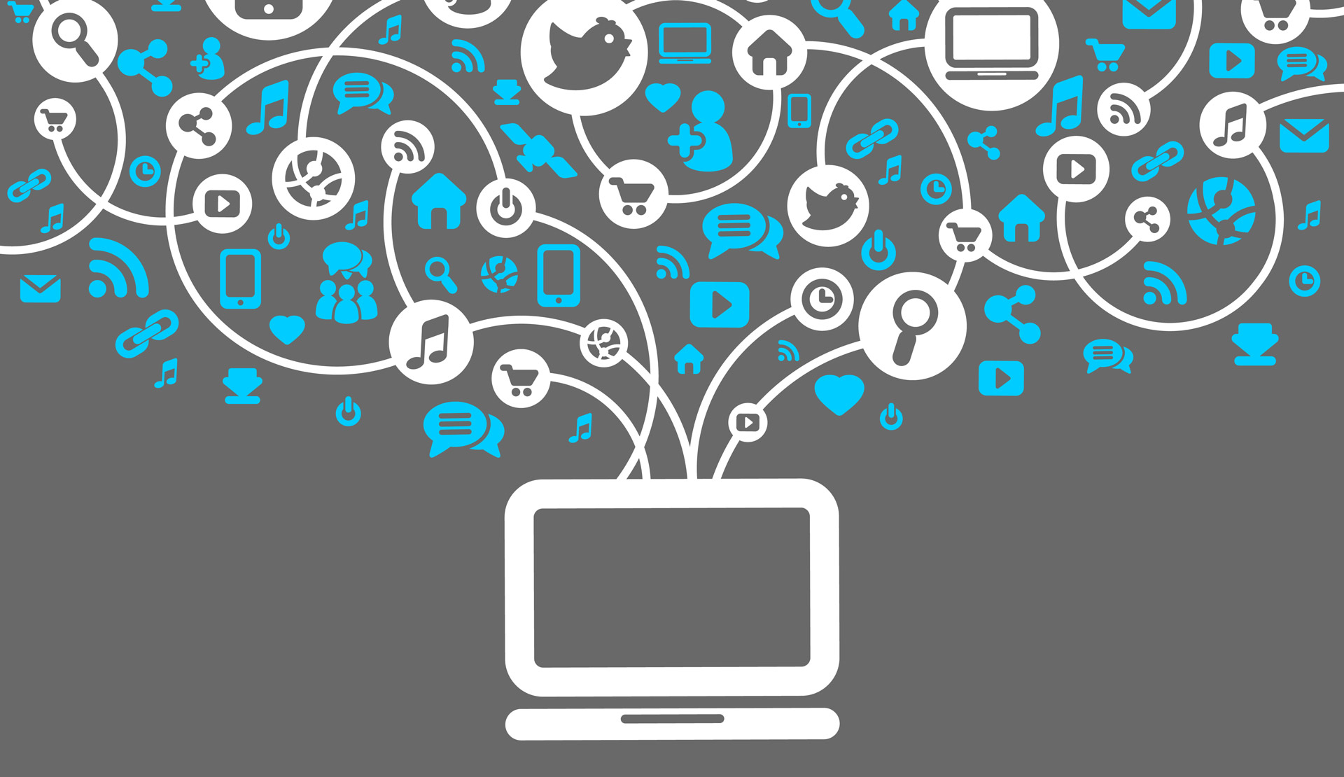 Computer linking to social media trends