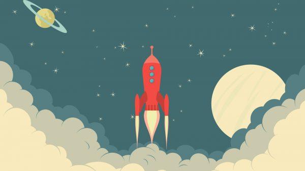 A rocket landing